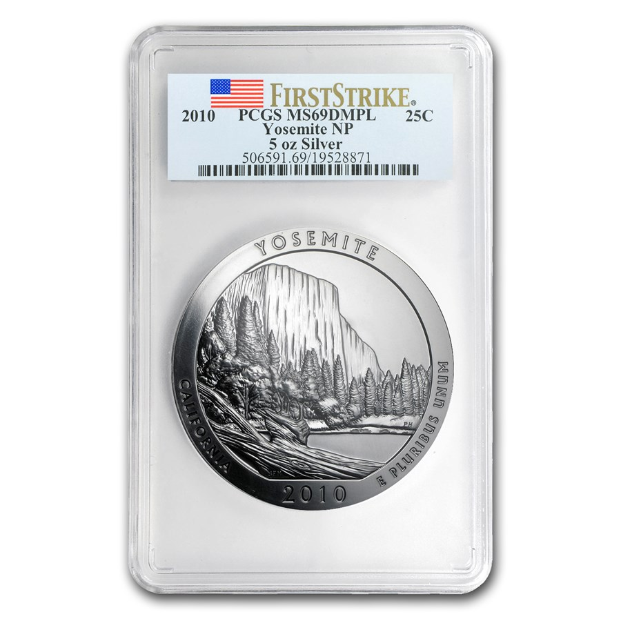 2010 5 oz Silver ATB Yosemite MS-69 DMPL PCGS (FirstStrike®)