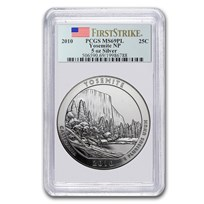 2010 5 oz Silver ATB Yosemite MS-69 PL PCGS (FirstStrike®)