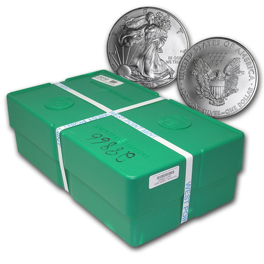 2010 500-Coin American Silver Eagle Monster Box (Sealed)