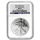 2010 American Silver Eagle MS-69 NGC (Early Release, Blue Label)