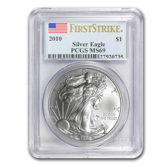 2010 American Silver Eagle MS-69 PCGS (FirstStrike®)