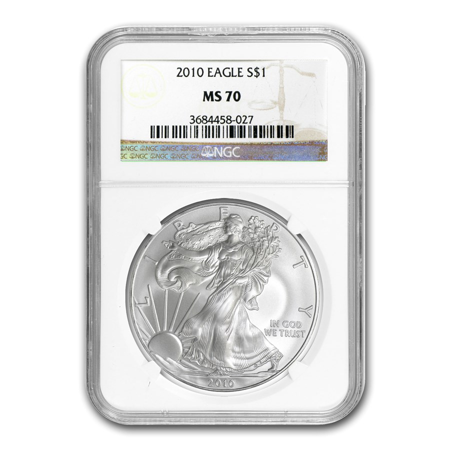 2010 American Silver Eagle MS-70 NGC