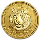 2010 Australia 1/10 oz Gold Lunar Tiger BU (Series II)