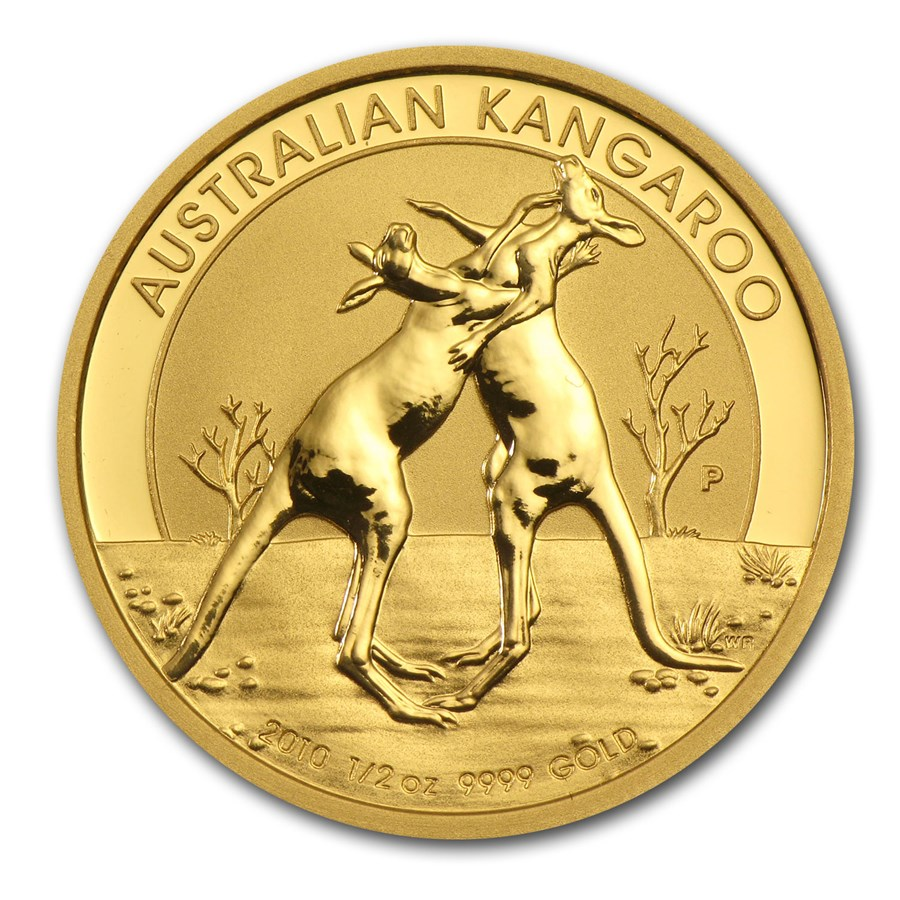 2010 Australia 1/2 oz Gold Kangaroo BU