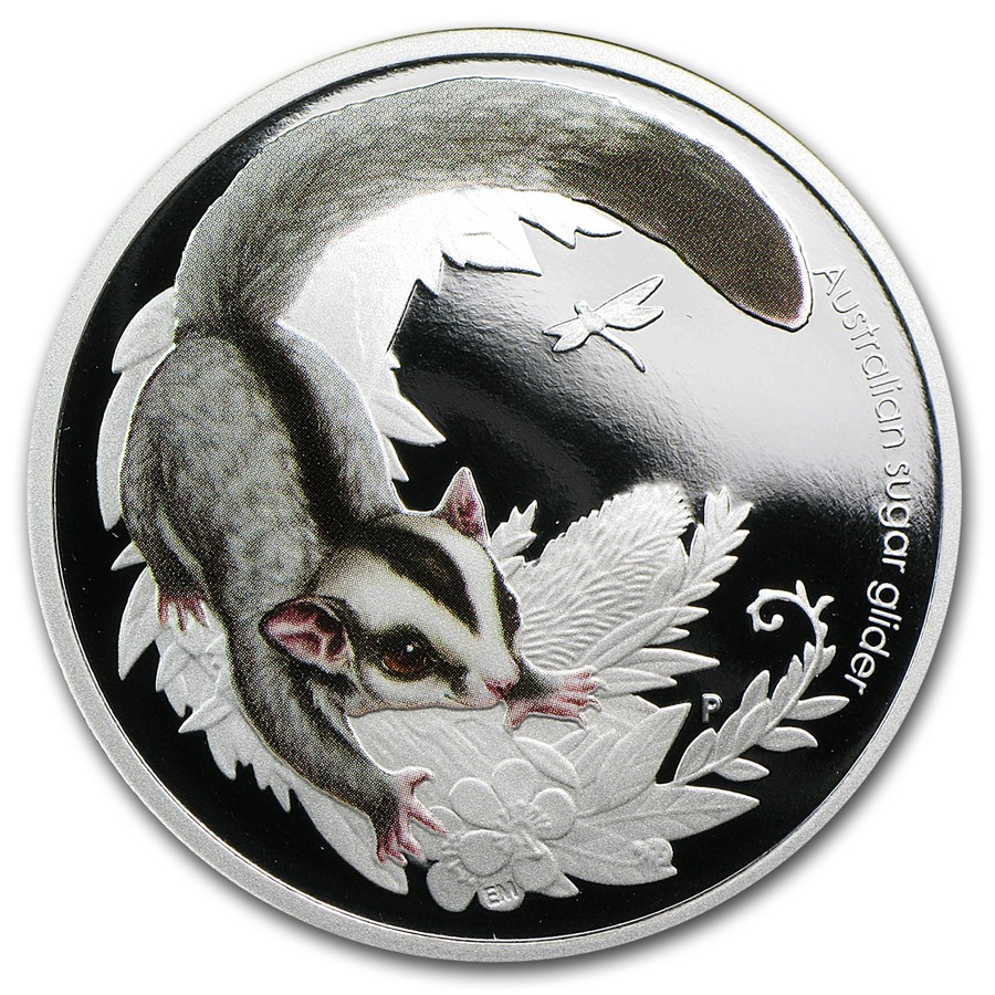 2010 Australia 1/2 oz Silver Bush Babies Sugar Glider Proof