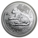 2010 Australia 1/2 oz Silver Year of the Tiger BU (Series II)