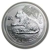 2010 Australia 1/2 oz Silver Year of the Tiger BU (Series II)