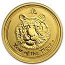 2010 Australia 1/20 oz Gold Lunar Tiger BU (Series II)