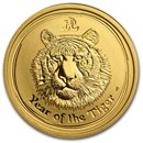 2010 Australia 1/4 oz Gold Lunar Tiger BU (Series II)