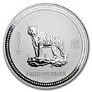 2010 Australia 1 kilo Silver Year of the Tiger BU (Series I)