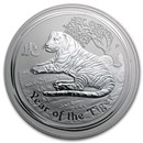 2010 Australia 1 kilo Silver Year of the Tiger BU (Series II)