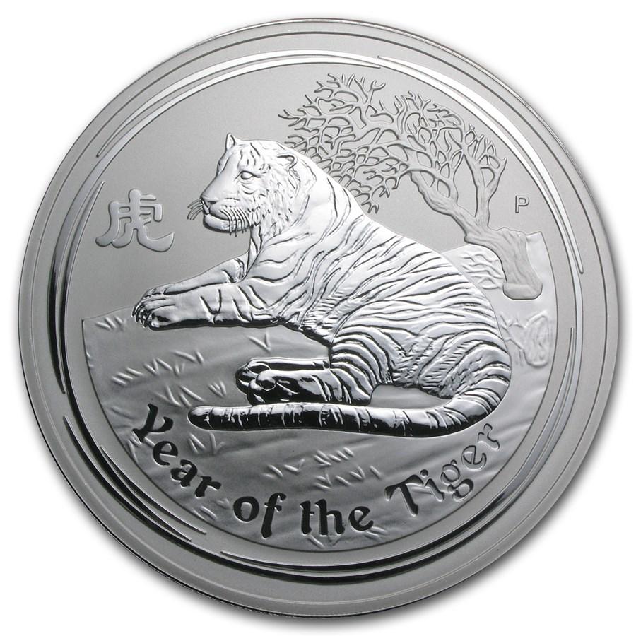 2010 Australia 1 kilo Silver Year of the Tiger BU (Series II)