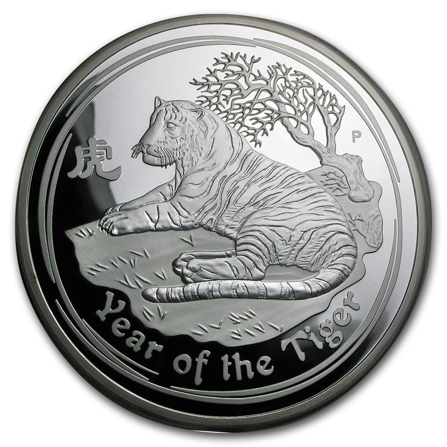 2010 Australia 1 kilo Silver Year of the Tiger Proof (DMG Box)