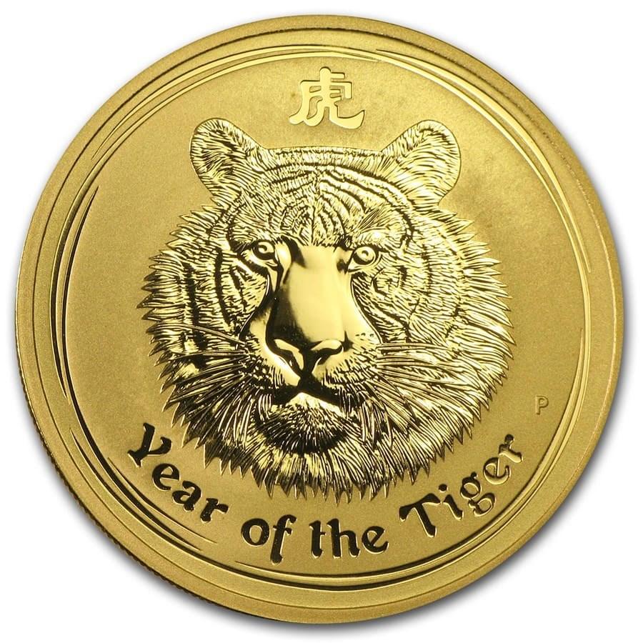 2010 Australia 1 oz Gold Lunar Tiger BU (Series II)
