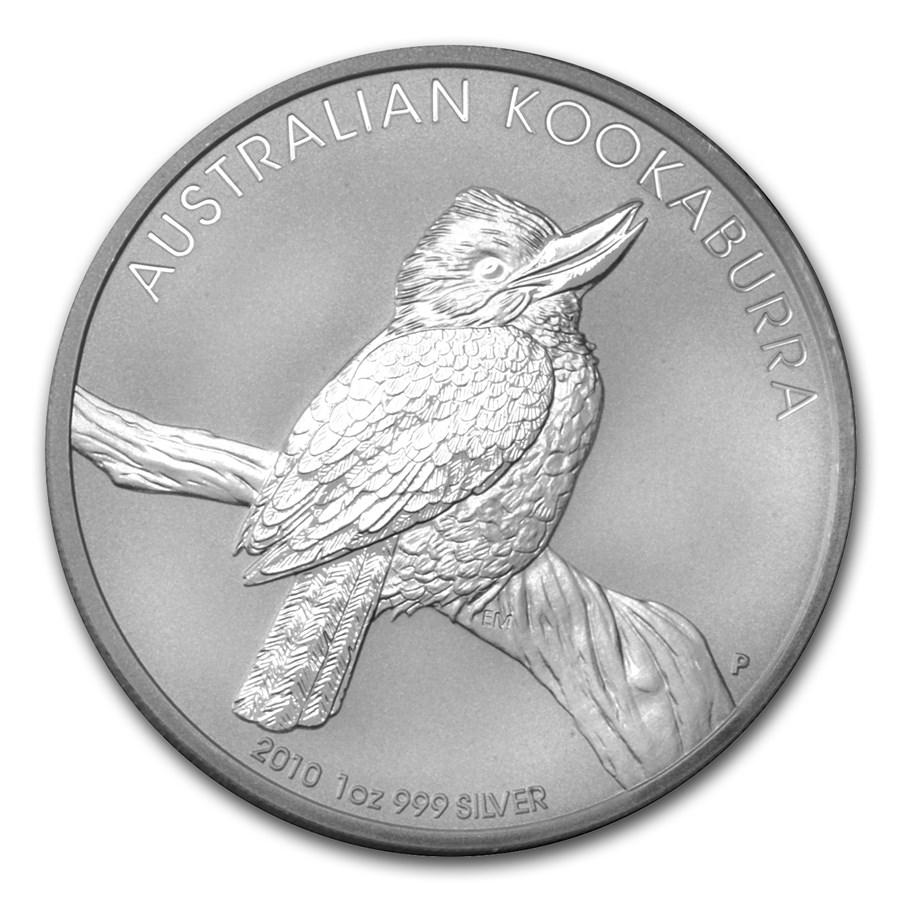 2010 Australia 1 oz Silver Kookaburra BU