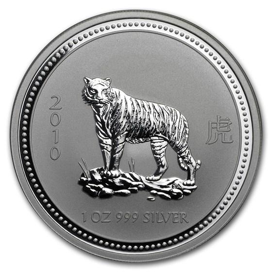 2010 Australia 1 oz Silver Year of the Tiger BU (Series I)