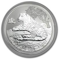 2010 Australia 1 oz Silver Year of the Tiger BU (Series II)