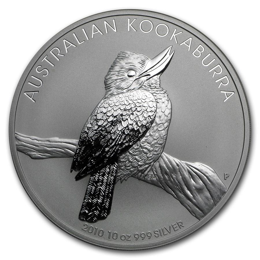 2010 Australia 10 oz Silver Kookaburra BU