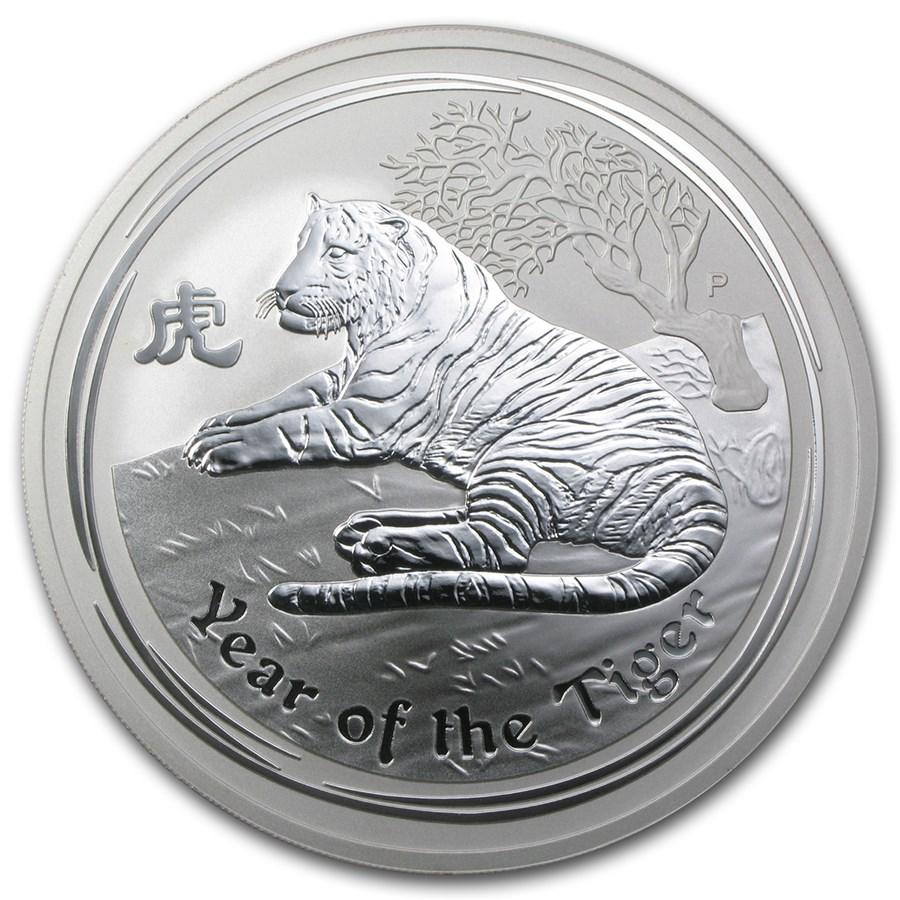 2010 Australia 10 oz Silver Year of the Tiger BU (Series II)