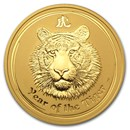 2010 Australia 2 oz Gold Lunar Tiger BU (Series II)