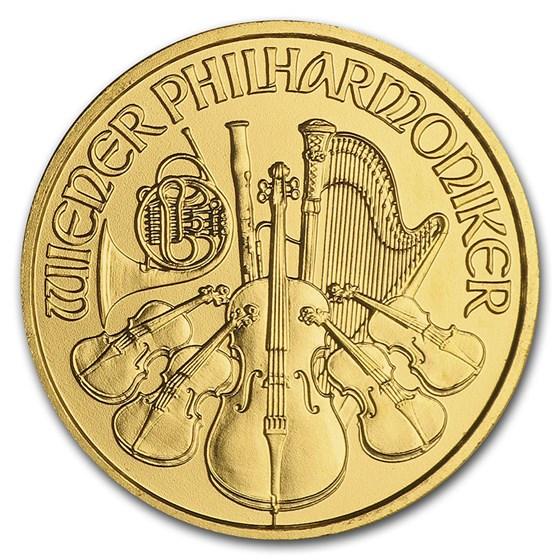 2010 Austria 1/10 oz Gold Philharmonic BU