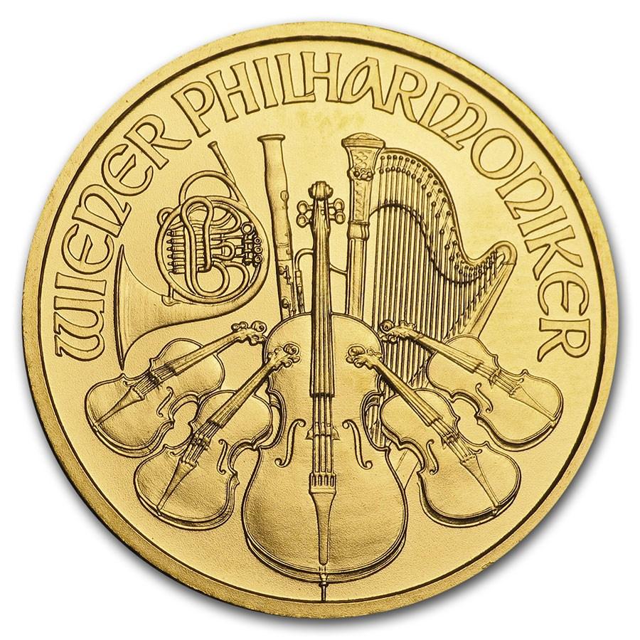 2010 Austria 1/4 oz Gold Philharmonic BU