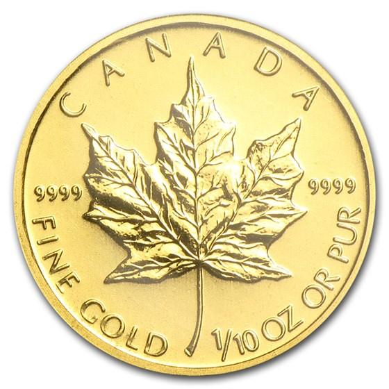 2010 Canada 1/10 oz Gold Maple Leaf BU