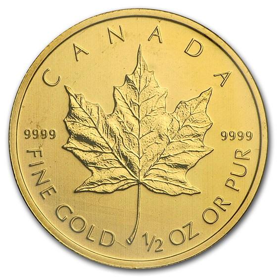 2010 Canada 1/2 oz Gold Maple Leaf BU