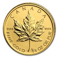 2010 Canada 1/4 oz Gold Maple Leaf BU