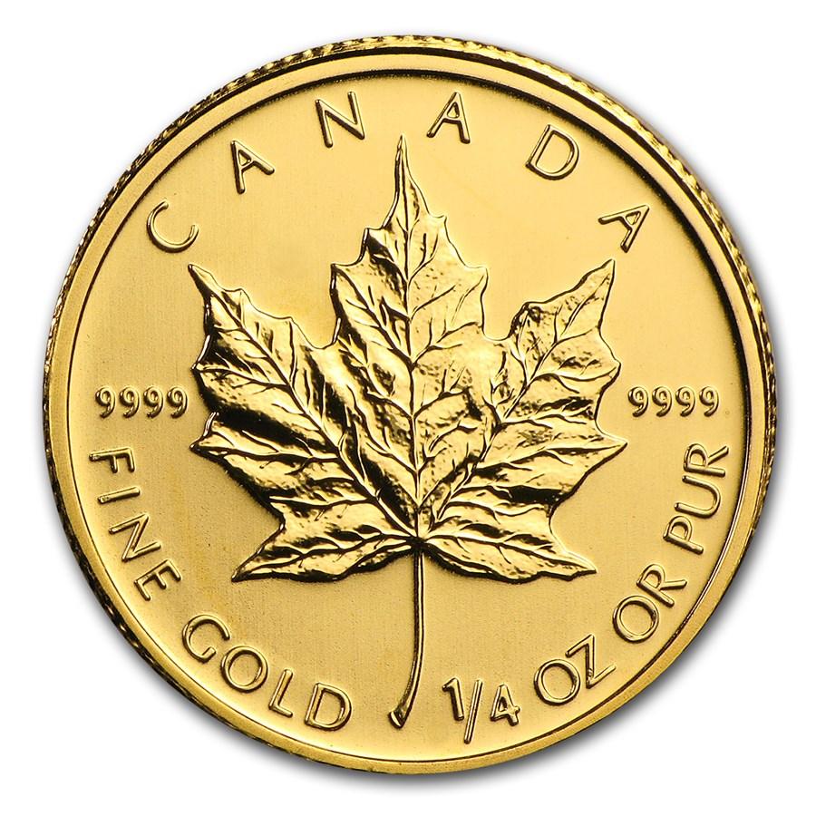 2010 Canada 1/4 oz Gold Maple Leaf BU