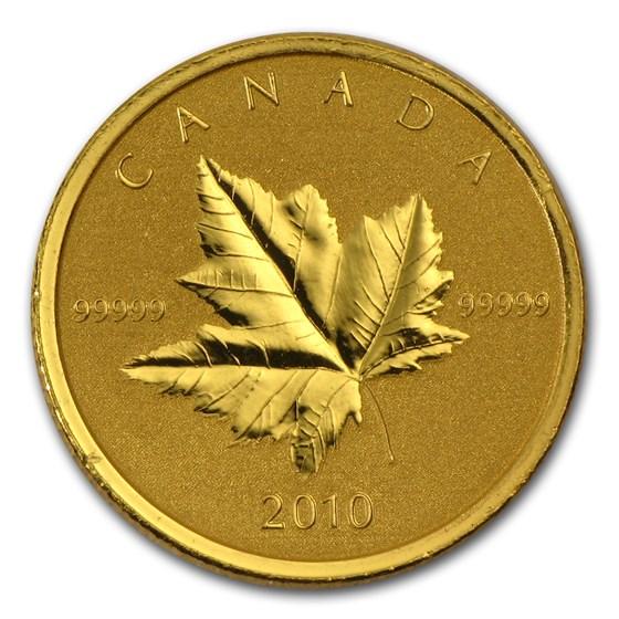 2010 Canada 1/5 oz Gold Maple Leaf Specimen (Piedfort)