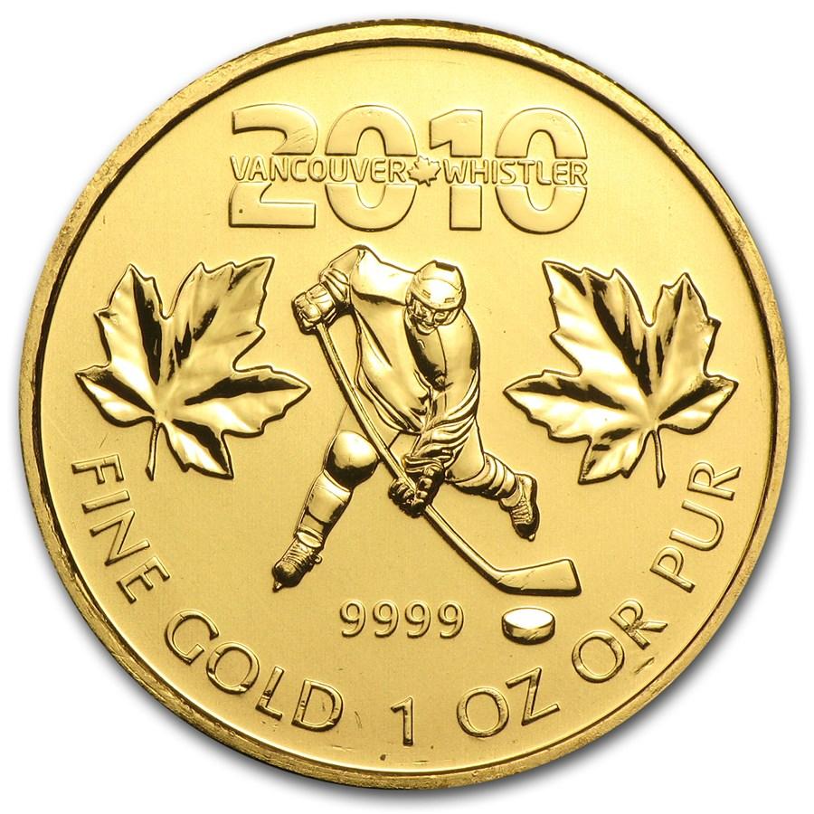 2010 Canada 1 oz Gold Maple Leaf BU (Vancouver Olympics)