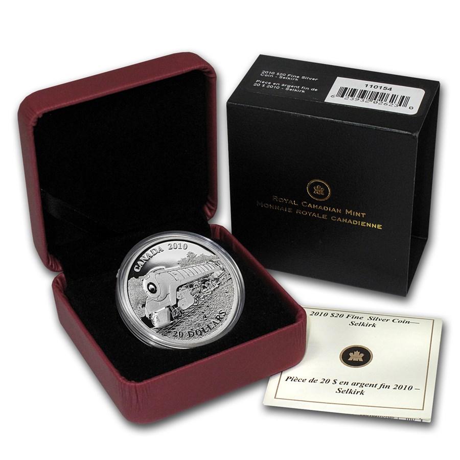 2010 Canada 1 oz Silver $20 Great Locomotives (Selkirk)