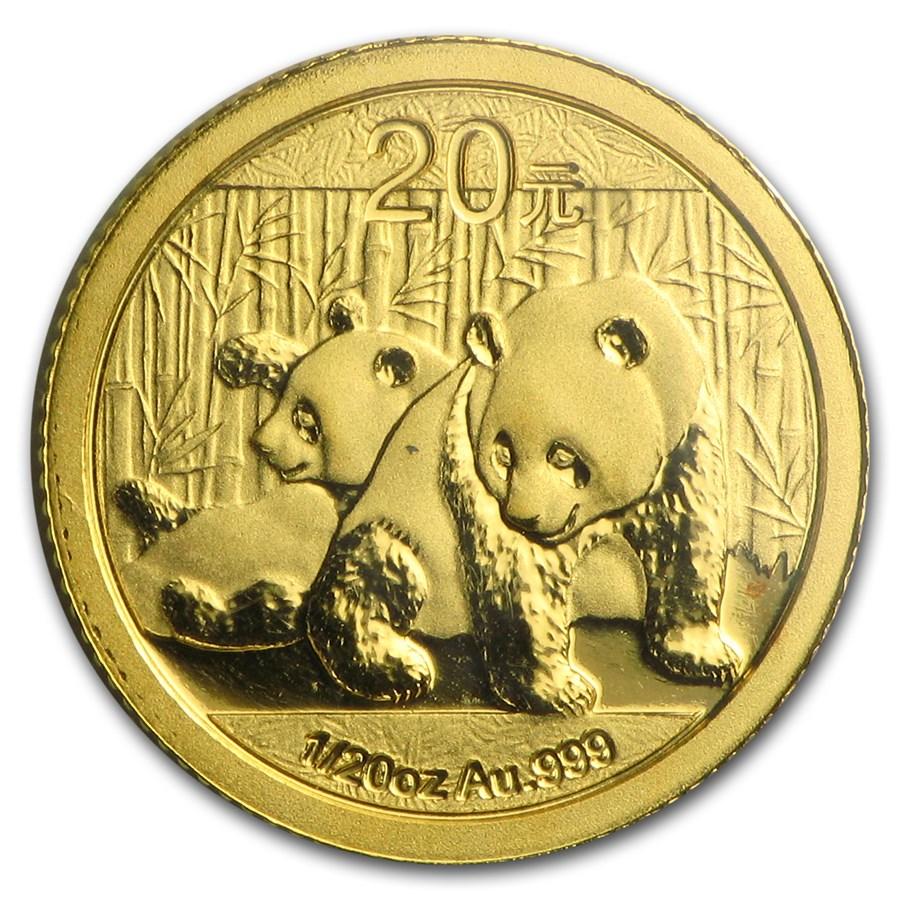 2010 China 1/20 oz Gold Panda BU (Sealed)