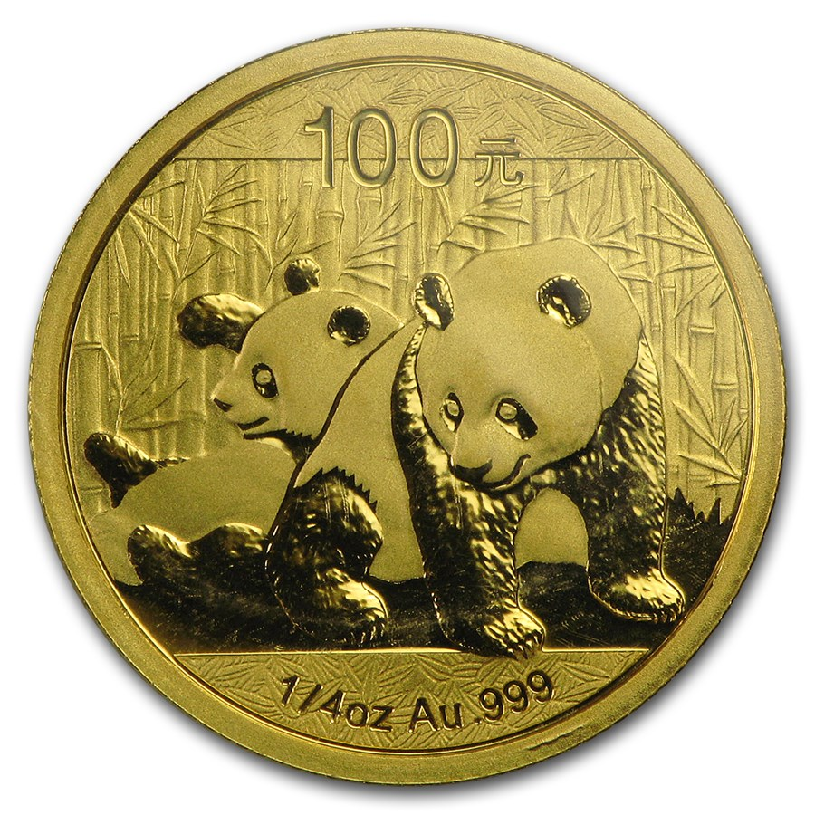2010 China 1/4 oz Gold Panda BU (Sealed)