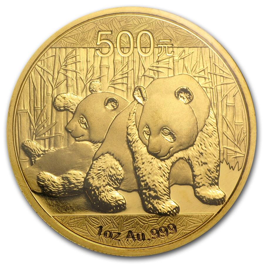 2010 China 1 oz Gold Panda BU (Sealed)