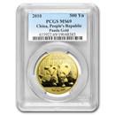 2010 China 1 oz Gold Panda MS-69 PCGS