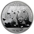 2010 China 1 oz Silver Panda BU (In Capsule)