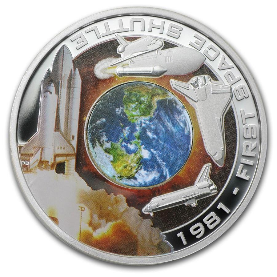 2010 Cook Islands 1 oz Silver 1st Space Shuttle (Orbit & Beyond)