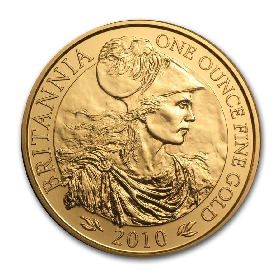 2010 Great Britain 1 oz Gold Britannia BU