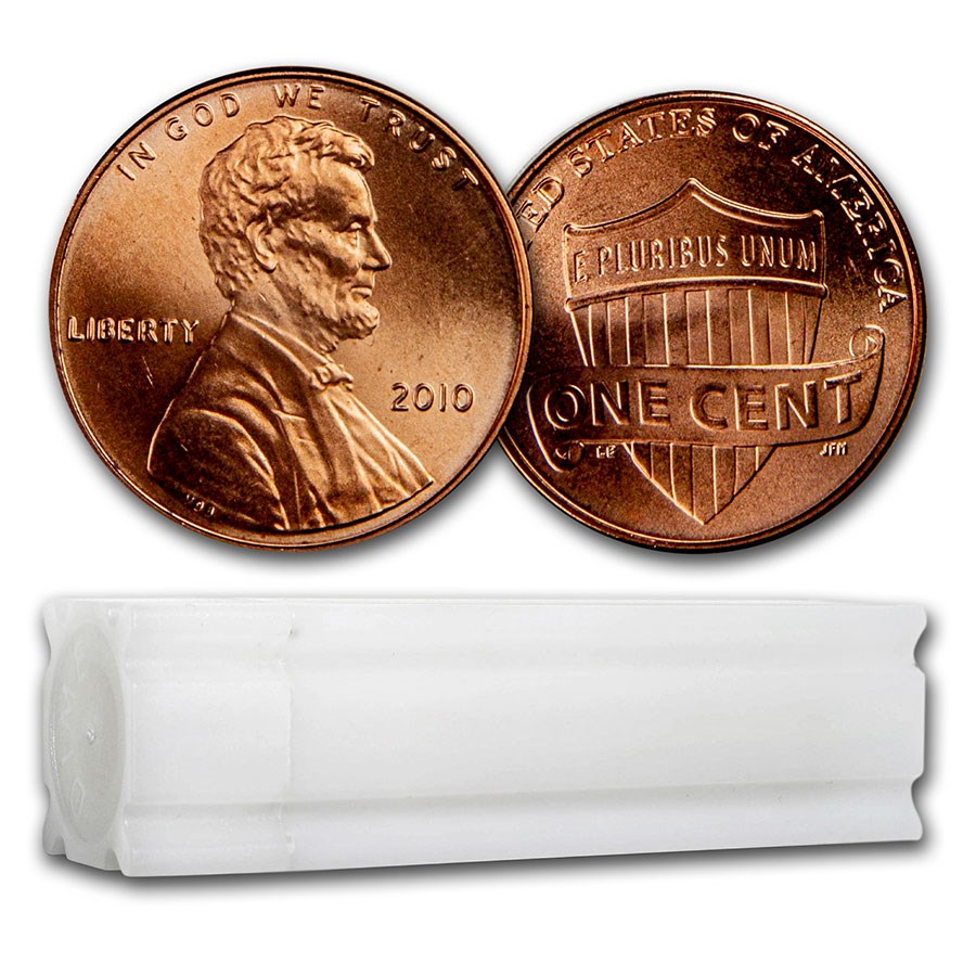 2010 Lincoln Cent 50-Coin Roll BU