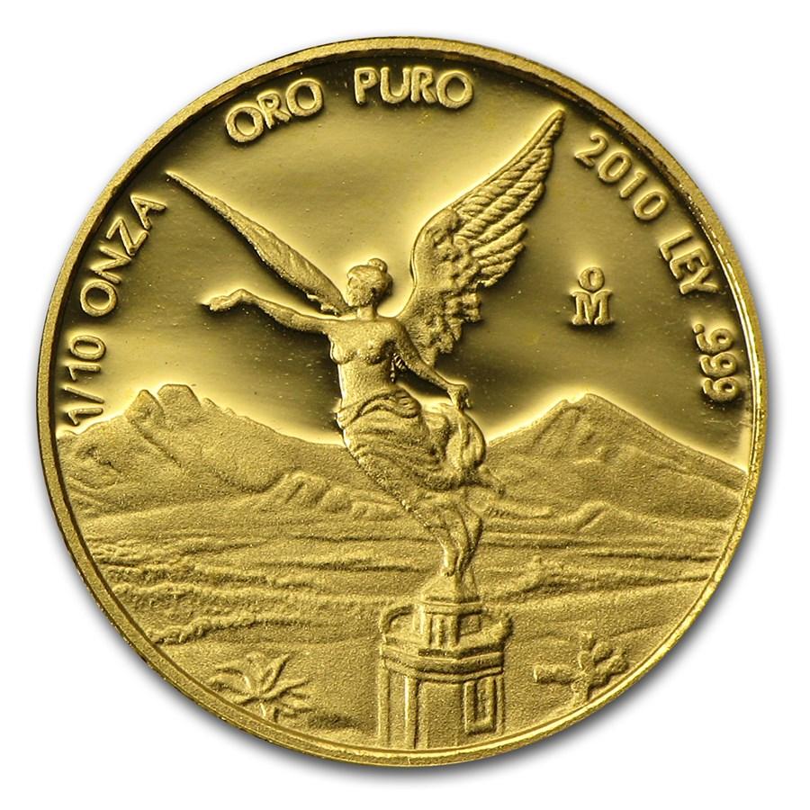 2010 Mexico 1/10 oz Proof Gold Libertad