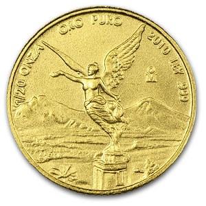 2010 Mexico 1/20 oz Gold Libertad BU