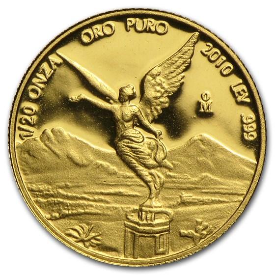 2010 Mexico 1/20 oz Proof Gold Libertad