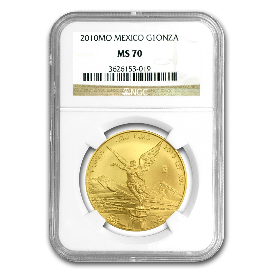 2010 Mexico 1 oz Gold Libertad MS-70 NGC