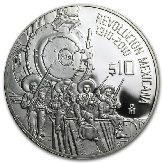 2010 Mexico 2 oz Proof Silver The Railroad (w/Box & CoA)