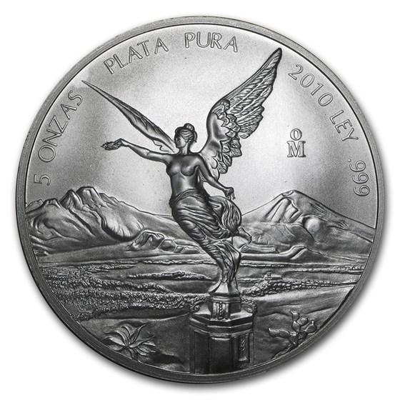 2010 Mexico 5 oz Silver Libertad BU