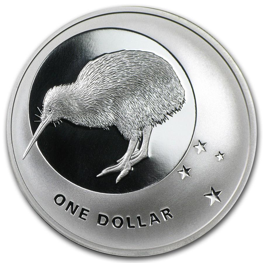 2010 New Zealand 1 oz Silver Icons $1 Kiwi & Southern Cross Prf