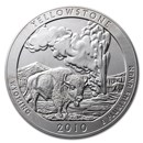 2010-P 5 oz Silver ATB Yellowstone (w/Box & COA)