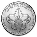 2010-P Boy Scouts Centennial $1 Silver Commem BU (w/Box & COA)